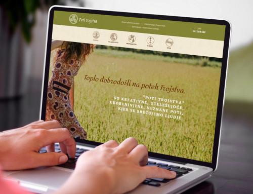 Spletna stran – Poti Trojstva