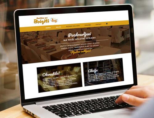 Spletna stran – Pri Brigiti