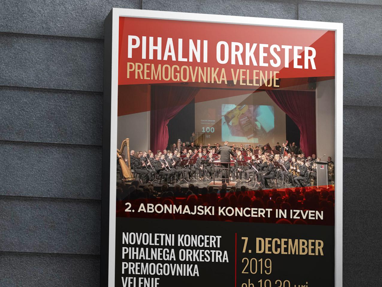 Pihalni orkester premogovnika Velenje - Plakat