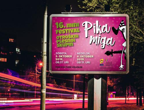 Pika miga 2019 – grafična podoba otroškega mini plesnega festivala