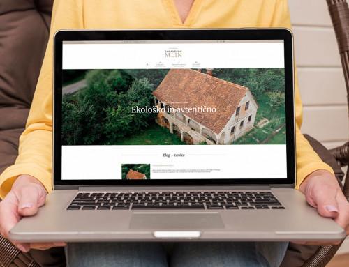 Spletna stran – Golavškov mlin