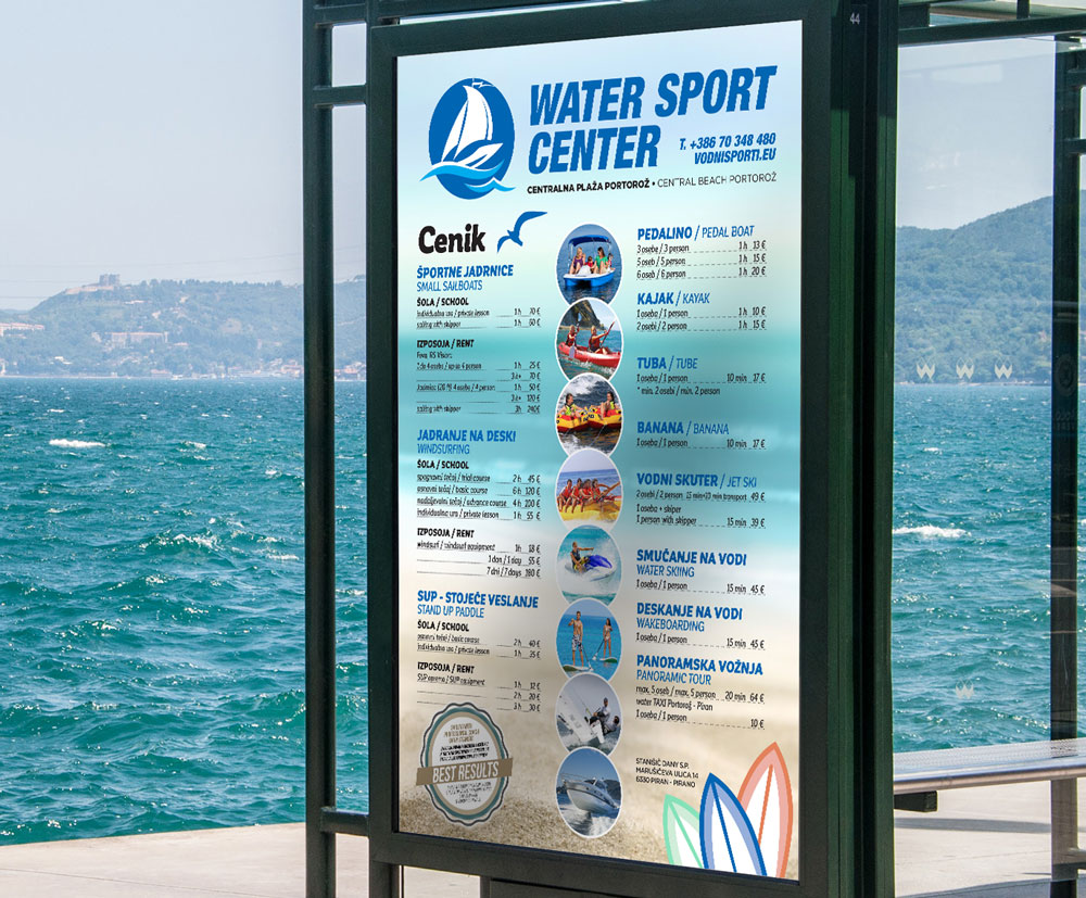 Water Sport Center - cenik